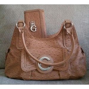 Tan Spotted G By Guess Tote